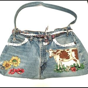 Re-purposed Levi jeans denim purse
